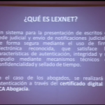 Jornada sobre LEXNET para abogados