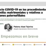 WEBINAR SEPIN: EL EFECTO COVID 19 EN LOS PROCEDIMIENTOS DE FAMILIA MATRIMONIALES Y RELATIVOS A RELACIONES PATERNOFILIALES